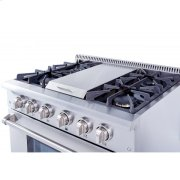36 Inch Professional Gas Range With Griddle In Stainless Steel Product Image