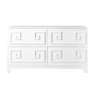 Four Drawer White Lacquer Dresser. All Drawers On Glides. Product Image