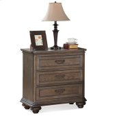 Belmeade Three Drawer Nightstand Old World Oak finish Product Image