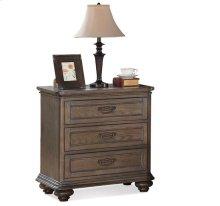 Belmeade Three Drawer Nightstand Old World Oak finish