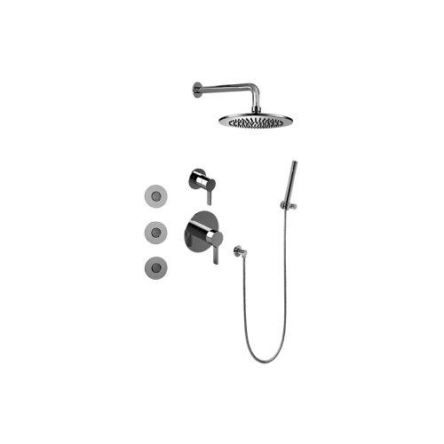 Full Thermostatic Shower System w/ Diverter Valve