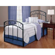 Wendell Twin Duo Panel Textured Black - Must Order 2 Panels for Complete Bed Set