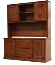 Alder Credenza Hutch-Top Only Product Image