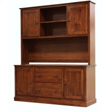 Alder Credenza Hutch-Top Only