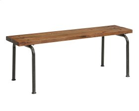 Rustic Plank Bench with 2 Legs