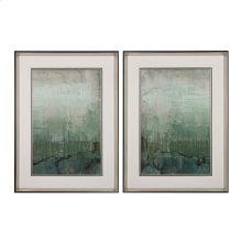 EMERALD SKY I, 11 - LIMITED EDITION PRINT ON FINE ART PAPER UNDER GLASS