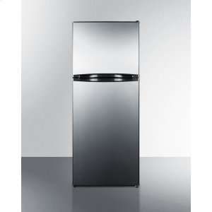 Summit11.5 CU.FT. Frost-free Refrigerator-freezer With Black Cabinet and Stainless Steel Doors