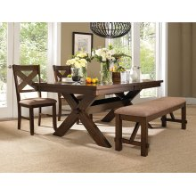 4-Pc. Kraven Dining Set - 713-417 Table, 713-260 Bench & (2) 713-434 Side Chairs