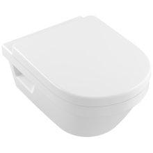 Elongated wall-mounted directflush WC Round - White Alpin