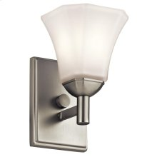 Serina Collection Serina 1 Light Wall Sconce in Brushed Nickel