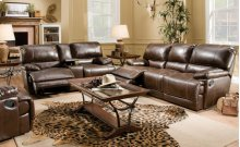 Red River Bonded Leather Console Loveseat