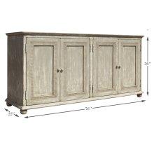 Pie Crust Door Cabinet