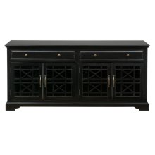 """Craftsman Antique Black 70"""" TV Console"""