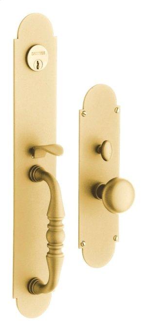Satin Brass Lancaster Entrance Trim