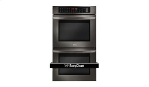 LG Black Stainless Steel Series 9.4 cu. ft Total Capacity Double Wall Oven Product Image