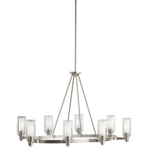 Circolo Collection Circolo 8 Light Chandelier - Brushed Nickel