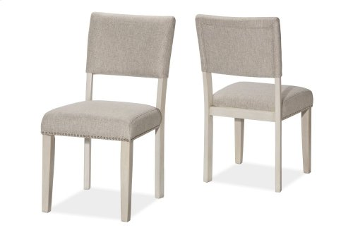 Elder Park 5-piece Rectangle Dining Set - White Sands With Oatmeal Fabric