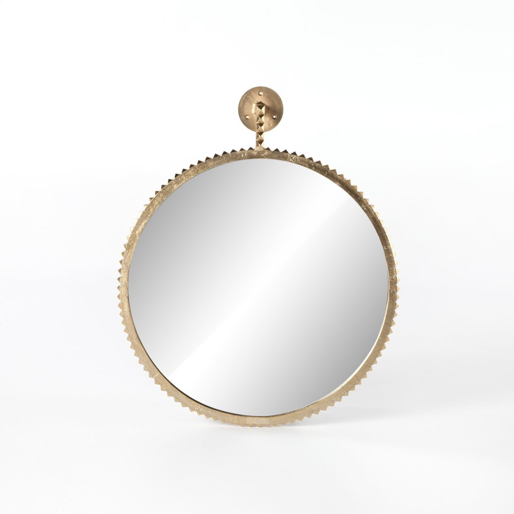 Aged Gold Finish Cru Large Mirror