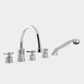 2500 Series Roman Tub Set with Diverter, Handshower and Regent X Handle (available as trim only P/N: 1.255493T)