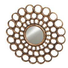 Bronze Connected Circles Wall Mirror