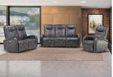 Easy Living Swiss 3 Piece Reclining Living Room Set with USB