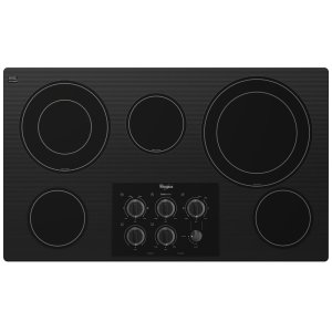 Gold(R) 36-inch Electric Ceramic Glass Cooktop with Two Dual Radiant Elements - BLACK