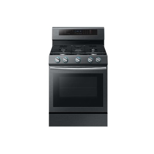 5.8 cu. ft. Freestanding Gas Range with True Convection in Black Stainless Steel