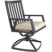 Swivel Rocker Dining Arm Chair
