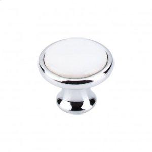 Ceramic Knob 1 1/4 Inch - Polished Chrome