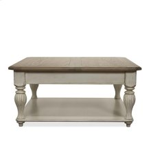 Coventry Lift Top Square Coffee Weathered Driftwood/Dover White finish