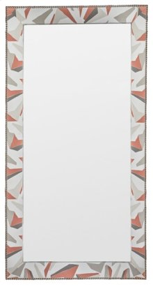 Corinthian Club Upholstered Floor Mirror 9404-MI