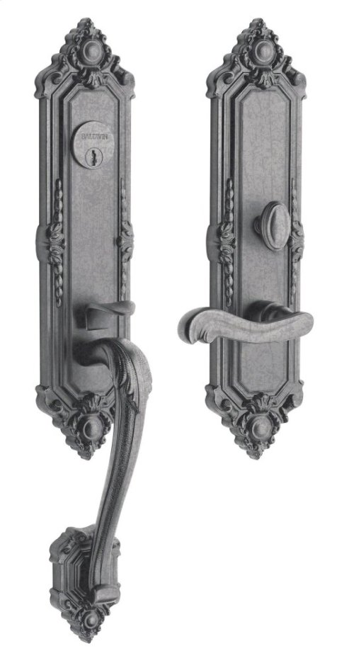 Distressed Antique Nickel Kensington Entrance Trim