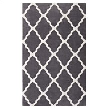 Marja Moroccan Trellis 5x8 Area Rug in Charcoal and Ivory