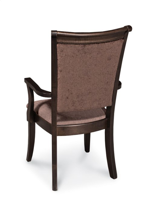 Empire Arm Chair, Leather Cushion Seat