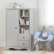 Armoire with Drawers - Soft Gray