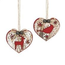 Heart Animal Ornament (2 asstd).