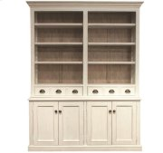 Juniper China Cabinet Hutch Chalk/Natural finish Product Image