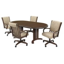 Table Base: Double Pedestal (walnut) Product Image