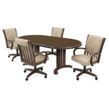 Table Base: Double Pedestal (walnut)