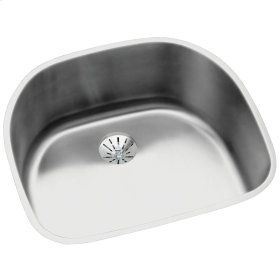 "Elkay Lustertone Classic Stainless Steel 23-5/8"" x 21-1/4"" x 10"", Single Bowl Undermount Sink with Perfect Drain"