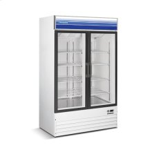 45 cu ft 2 Door Merchandiser Refrigerator (White)