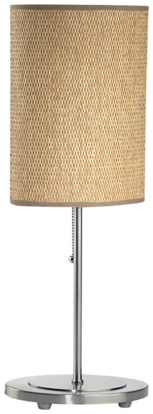 Table Lamp, Ps W/rattan Shade, E27 Cfl 13w