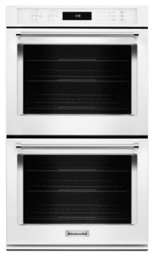 """CLOSEOUT ITEM: 30"""" Double Wall Oven with Even-Heat™ True Convection - White"""