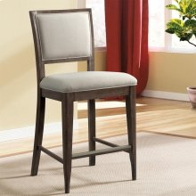 Joelle - Upholstered Gathering Height Chair - Carbon Gray Finish