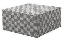 Emerald Home Adler Ottoman Pewter-charcoal Checkers U4132-22-13