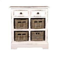 CC-CAB2229LD-WW-B  Cottage Storage Cabinet with Baskets