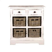 CC-CAB2229LD-WW-B  Cottage Storage Cabinet with Baskets