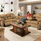 Reclining Sofa w/Drop DownTable/ Walnut Finish Product Image