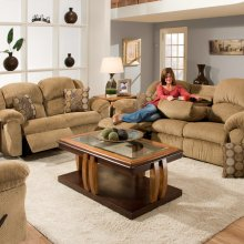 Reclining Sofa w/Drop DownTable/ Walnut Finish