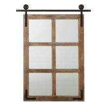 Window Mirror on Pulley Door.